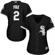 Wholesale Cheap White Sox #2 Nellie Fox Black Alternate Women's Stitched MLB Jersey