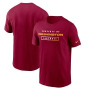 Wholesale Cheap Washington Redskins Football Team Nike Team Property Of Essential T-Shirt Burgundy