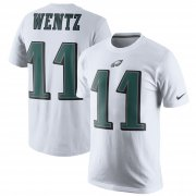 Wholesale Cheap Philadelphia Eagles #11 Carson Wentz Nike Player Pride Name & Number T-Shirt White