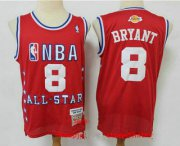 Wholesale Cheap Men's Los Angeles Lakers #8 Kobe Bryant Red 2003 All Star Swingman Throwback Jersey