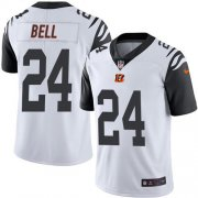 Wholesale Cheap Nike Bengals #24 Vonn Bell White Men's Stitched NFL Limited Rush Jersey