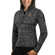 Wholesale Cheap Vegas Golden Knights Antigua Women's Fortune 1/2-Zip Pullover Sweater Charcoal
