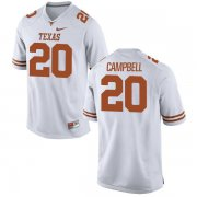 Wholesale Cheap Men's Texas Longhorns 20 Earl Campbell White Nike College Jersey