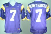 Wholesale Cheap LSU Tigers #7 Honey Badger Purple Jersey