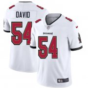 Wholesale Cheap Tampa Bay Buccaneers #54 Lavonte David Men's Nike White Vapor Limited Jersey