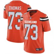 Wholesale Cheap Nike Browns #73 Joe Thomas Orange Alternate Men's Stitched NFL Vapor Untouchable Limited Jersey