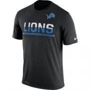 Wholesale Cheap Men's Detroit Lions Nike Practice Legend Performance T-Shirt Black