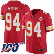Wholesale Cheap Nike Chiefs #94 Terrell Suggs Red Team Color Youth Stitched NFL 100th Season Vapor Untouchable Limited Jersey