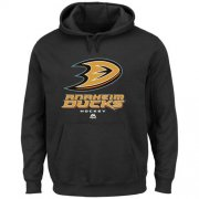 Wholesale Cheap Majestic Anaheim Ducks Critical Victory VIII Pullover Hoodie Black