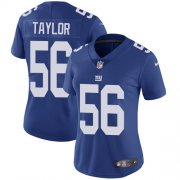 Wholesale Cheap Nike Giants #56 Lawrence Taylor Royal Blue Team Color Women's Stitched NFL Vapor Untouchable Limited Jersey