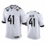 Wholesale Cheap Nike Jaguars #41 Josh Allen White 25th Anniversary Vapor Limited Stitched NFL 100th Season Jersey