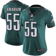 Wholesale Cheap Nike Eagles #55 Brandon Graham Midnight Green Team Color Women's Stitched NFL Vapor Untouchable Limited Jersey