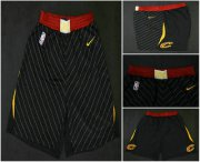 Wholesale Cheap Men's Cleveland Cavaliers Black 2017-2018 Nike Swingman Stitched NBA Shorts