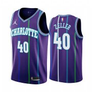 Wholesale Cheap Nike Hornets #40 Cody Zeller Purple 2019-20 Classic Edition Stitched NBA Jersey