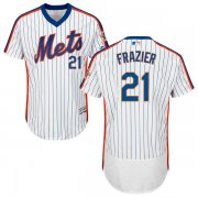 Wholesale Cheap Mets #21 Todd Frazier White(Blue Strip) Flexbase Authentic Collection Alternate Stitched MLB Jersey