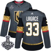 Wholesale Cheap Adidas Golden Knights #33 Maxime Lagace Grey Home Authentic 2018 Stanley Cup Final Women's Stitched NHL Jersey