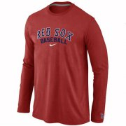 Wholesale Cheap Boston Red Sox Long Sleeve MLB T-Shirt Red