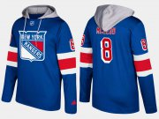 Wholesale Cheap Rangers #8 Cody McLeod Blue Name And Number Hoodie