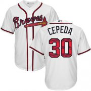 Wholesale Cheap Braves #30 Orlando Cepeda White Team Logo Fashion Stitched MLB Jersey