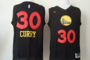 Wholesale Cheap Golden State Warriors #30 Stephen Curry 2015 Black With Red Fashion Jersey
