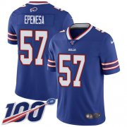Wholesale Cheap Nike Bills #57 A.J. Epenesas Royal Blue Team Color Youth Stitched NFL 100th Season Vapor Untouchable Limited Jersey