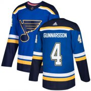 Wholesale Cheap Adidas Blues #4 Carl Gunnarsson Blue Home Authentic Stitched NHL Jersey