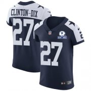 Wholesale Cheap Nike Cowboys #27 Ha Ha Clinton-Dix Navy Blue Thanksgiving Men's Stitched With Established In 1960 Patch NFL Vapor Untouchable Throwback Elite Jersey