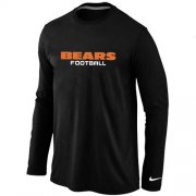 Wholesale Cheap Nike Chicago Bears Authentic Font Long Sleeve T-Shirt Black