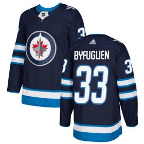 Wholesale Cheap Adidas Jets #33 Dustin Byfuglien Navy Blue Home Authentic Stitched Youth NHL Jersey