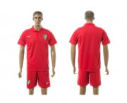 Wholesale Cheap Malaga Blank Red Training Soccer Club Jersey