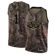 Cheap Youth Pelicans #1 Zion Williamson Camo Basketball Swingman Realtree Collection Jersey
