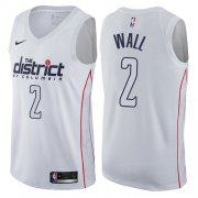 Wholesale Cheap Nike Washington Wizards #2 John Wall White NBA Swingman City Edition Jersey