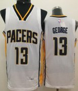 Wholesale Cheap Indiana Pacers #24 Paul George Revolution 30 Swingman White Jersey