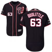 Wholesale Cheap Nationals #63 Sean Doolittle Navy Blue Flexbase Authentic Collection 2019 World Series Champions Stitched MLB Jersey