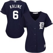 Wholesale Cheap Tigers #6 Al Kaline Navy Blue Alternate Women's Stitched MLB Jersey
