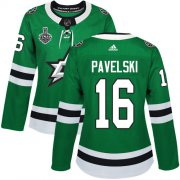 Cheap Adidas Stars #16 Joe Pavelski Green Home Authentic Women's 2020 Stanley Cup Final Stitched NHL Jersey