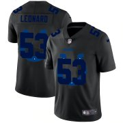 Wholesale Cheap Indianapolis Colts #53 Darius Leonard Men's Nike Team Logo Dual Overlap Limited NFL Jersey Black