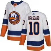 Wholesale Cheap Adidas Islanders #10 Derek Brassard White Road Authentic Stitched NHL Jersey
