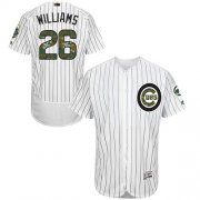 Wholesale Cheap Cubs #26 Billy Williams White(Blue Strip) Flexbase Authentic Collection Memorial Day Stitched MLB Jersey