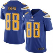 Wholesale Cheap Nike Chargers #88 Virgil Green Electric Blue Men's Stitched NFL Limited Rush Jersey
