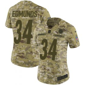 Wholesale Cheap Nike Steelers #34 Terrell Edmunds Camo Women\'s Stitched NFL Limited 2018 Salute to Service Jersey