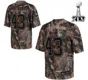Wholesale Cheap Steelers #43 Troy Polamalu Camouflage Realtree Super Bowl XLV Stitched NFL Jersey