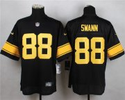 Wholesale Cheap Nike Steelers #88 Lynn Swann Black(Gold No.) Men's Stitched NFL Elite Jersey