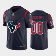 Wholesale Cheap Houston Texans Custom Navy Blue Men's Nike Big Team Logo Vapor Limited NFL Jersey