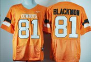 Wholesale Cheap Oklahoma State Cowboys #81 Justin Blackmon Orange Pro Combat Jersey