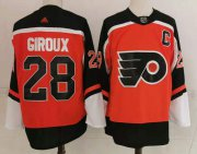 Wholesale Cheap Men's Philadelphia Flyers #28 Claude Giroux Orange Adidas 2020-21 Stitched NHL Jersey