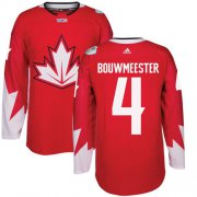 Wholesale Cheap Team Canada #4 Jay Bouwmeester Red 2016 World Cup Stitched Youth NHL Jersey