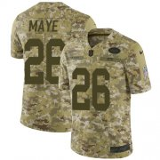Wholesale Cheap Nike Jets #26 Marcus Maye Camo Youth Stitched NFL Limited 2018 Salute to Service Jersey