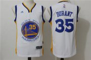 Wholesale Cheap Men's Golden State Warriors Kevin Durant White Revolution 30 Swingman #35 Player adidas Home Jersey