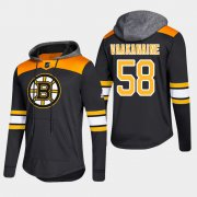 Wholesale Cheap Bruins #58 Urho Vaakanaine Black 2018 Pullover Platinum Hoodie